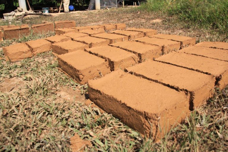 Clay bricks Thailand